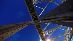 Time Lapse Photography Bolsheokhtinsky Bridge In St Petersburg stock video footage
