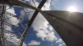 Time Lapse Photography Bolsheokhtinsky Bridge In St Petersburg stock video footage