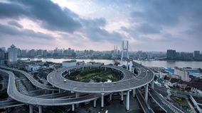 Time-lapse photography, the bund in Shanghai stock video