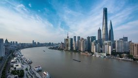 Time-lapse photography, the bund in Shanghai stock footage