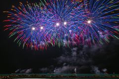 Time Lapse Photography Of Fireworks Display stock images