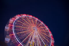 Time Lapse Photography of Lightened Ferris Wheel during Nighttime Stock Photography