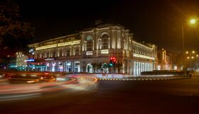 Time-lapse Photography at night CP New Delhi