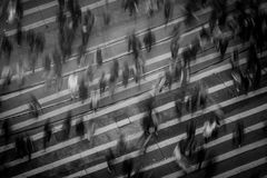 Time Lapse Photography of People Walking on Pedestrian Lane Royalty Free Stock Images