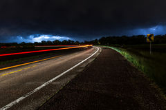 Time-lapse Photography of Road Stock Photo