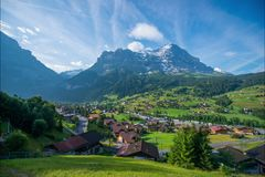Time-lapse photography of Swiss landscapes stock footage