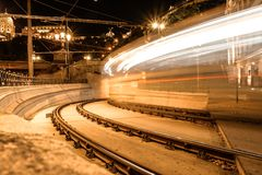 Time Lapse Photography of Train Royalty Free Stock Photos