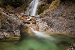 Time Lapse Photography of Water Falls Royalty Free Stock Photos