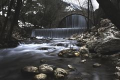Time Lapse Photography of Waterfall Royalty Free Stock Photography