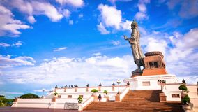 Time lapse of Phutthamonthon Nakhorn pathom Thailand religion landmark Stock Photography