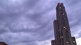 Time lapse pittsburgh sunset fall clouds sky stock video