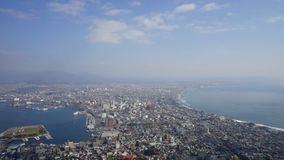 Time-lapse : Port of Hakodate, Hokkaido, Japan. Time-lapse : Port of Hakodate, view from Mt. Hakodate, Hokkaido, Japan stock video