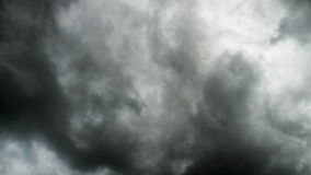 Time lapse of rain clouds over the sky stock footage