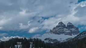 Clouds move over the Dolomites stock video