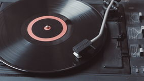 Time-lapse of a record player playing vinyl. Retro Vinyl Turntable Stylus stock video footage