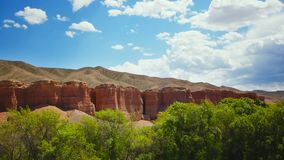 Time lapse of the red canyon. stock footage