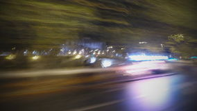 Time Lapse road. Driving around Roma - Time Lapse stock video footage