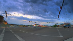 Time lapse road rush intersection. Video of time lapse road rush intersection stock video footage