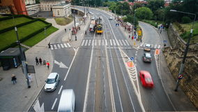 Time lapse of the road in Warsaw stock video footage