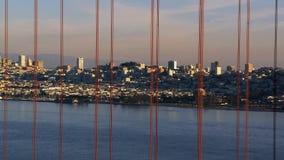 Time Lapse of San Fran between Golden Gate Bridge Sunset stock video