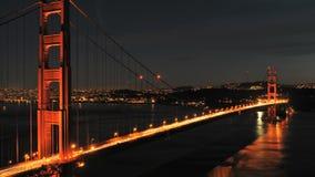 Time Lapse of San Fran between Golden Gate Bridge Sunset - Clip 2 stock footage