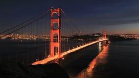 Time Lapse of San Fran between Golden Gate Bridge Sunset - Clip 3 stock video footage