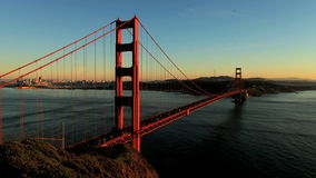 Time Lapse of San Fran between Golden Gate Bridge Sunset - Clip 1 stock footage