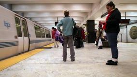 Time Lapse of San Francisco Subway - BART - 4K - 4096x2304. 4k footage of the San Francisco Subway, BART Station