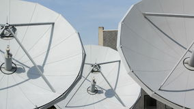 Time lapse satellite dishes stock video
