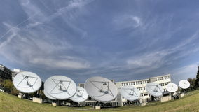 Time lapse satellite dishes stock footage