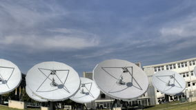 Time lapse satellite dishes stock video footage