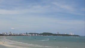 Time lapse sea beach stock footage