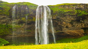 Time lapse of Seljalandsfoss in south Iceland stock video