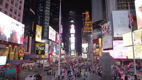 Time-lapse Sequence Of Traffic At Night In Times Square NYC stock footage