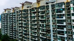 Shanghai highrise apartment building stock video footage