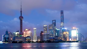 Time lapse of Shanghai Pudong viewed stock footage