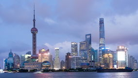 Time lapse of Shanghai Pudong viewed, stock video