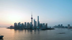 Time lapse of shanghai in sunrise stock video footage