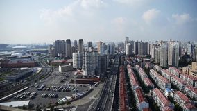 Time lapse,shanghai traffic,urban building background,china. Gh2_07336 stock footage