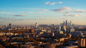 Time lapse shooting from high above of evening in autumn metropolis stock footage