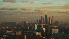 Time lapse shooting from high point of nightfall in city stock footage