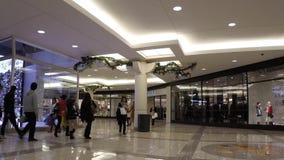 Time lapse of shopper inside Metropolis shopping mall Stock Images