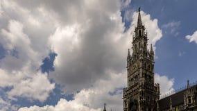 Clocktower new town hall Munich stock video footage