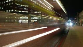 Time-Lapse-shot of London Bridge traffic by night. Time-lapse of London Bridge traffic by night stock video footage