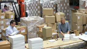 Time Lapse Shot Of Packing And Dispatching Goods Royalty Free Stock Images