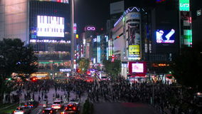 Time-lapse shot of Shibuya's main road crossing stock footage