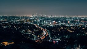 Los Angeles Skylin from The Hollywood Bowl Overlook