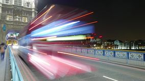 Time-Lapse-shot of traffic on London Tower Bridge Hyper lapse stock video