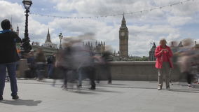 Time lapse. The sidewalk near the Big Ben tower. stock video footage