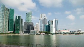 Time Lapse of Singapore Cityscape on Marina Bay stock footage